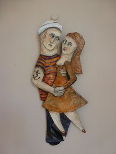 One of a kind papier mache 'Sailor and by mycuriousteaparty, $66.50