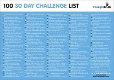 30 day challenge list