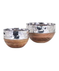 IMAX Wood Persimmon Serving Bowl - Set of Two   zulily