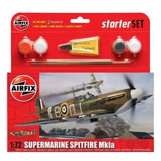 #Airfix 1:72 supermarine spitfire mkia #military #aircraft category 1 gift set,  View more on the LINK: http://www.zeppy.io/product/gb/2/282266769500/