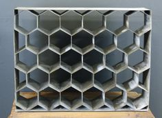 Industrial Honeycomb Wine Rack
