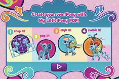 Play Free Online My Little Pony: POP Pony Maker Game in freeplaygames.net! Let's click and play friv kids games, play free online My Little Pony: POP Pony Maker game. Have fun! Mlp Games, Pony Maker, My Little Pony Games, Online Fun, Maker Game, School Dances, Girl Meets World, Games For Kids, Create Your Own