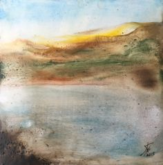 Alkali Lake by Kyle Evans Encaustic on Wood Panel Kyle Evans, Wood Paneling, Contemporary Artists, Art Gallery, Artwork, Painting, Wooden Panelling, Art Museum, Work Of Art