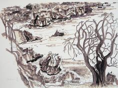 Lawrence Halprin, Sea Ranch Study Ink on paper