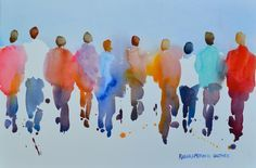 people in watercolor - Google Search