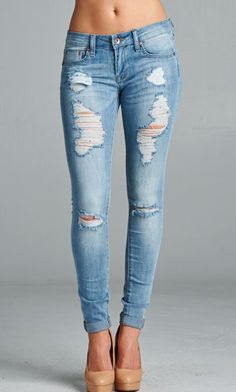 More destroys! Our newest destroyed skinny jeans are here! #specialajeans #destroyedjeans