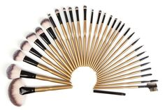 Yoa New 32 Piece Makeup Brushes Set | Professional Kabuki Makeup Brush Set Cosmetics Foundation Makeup Brushes Set Kits + Pu Leather Roll Pouch. Premium Synthetic Hair-Softer ,Denser and Silkier than stiff animal hair. No Shedding Hair and Not hurt your smooth skin. 100% non-porous bristles-Perfectly apply powder, cream and liquid products. Hand made with solid wood handle and mental ferrule. Complete Function-Foundation, Blending, Blush, Eyeliner & Face Powder. Portable and convenient…