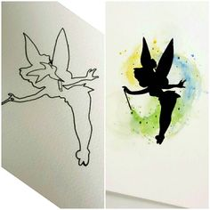 Custom Tinkerbell watercolor tattoo design for a cover up ! #tattoodesign…