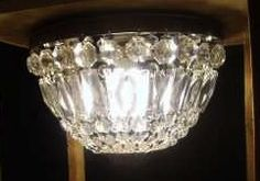 crystal/brass bucket chandelier