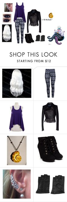 """""""Daughter of Ursula"""" by rcb-1589 ❤ liked on Polyvore featuring H&M, Aaron Ashe, Blumarine, Karl Lagerfeld and disneydescendants"""