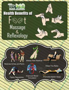 Top 10 Health Benefits of Foot Massage & Reflexology Reflexology Benefits, Acupuncture Benefits, Reflexology Massage, Massage Benefits, Foot Massage, Health Benefits, Holistic Remedies, Natural Health Remedies, Plantar Fasciitis Exercises