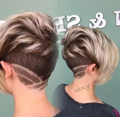 "Gefällt 1,419 Mal, 14 Kommentare - #BuzzCutFeed (@buzzcutfeed) auf Instagram: ""Platinum Ash Undercut Pixie With Nape Art  Hair By @nealmhair  #UCFeed #BuzzCutFeed #Undercut…"""