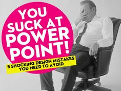You Suck At PowerPoint! by @Jessica Kettrick / tips for better presentation design