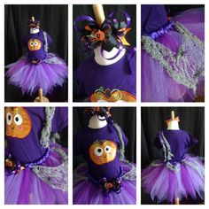 "Purple pumpkin tutu set, find us on Facebook, look for ""Tutu es Belle"""