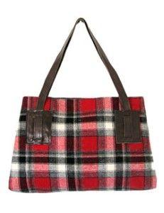 Winter plaid hand bag