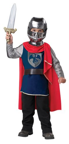 Boys Costumes - This Boys Medieval Gallant Knight Costume includes the tunic with attached cape and belt, helmet with removable face grill, and the sword. Toddler Boy Costumes, Halloween Costumes For Girls, Baby Halloween, Trendy Halloween, Children Costumes, Halloween 2020, Halloween Parties, Baby Costumes, Parties