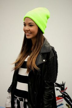 8. Make It Stand out - 9 Fashion Tips on How to Wear a Beanie ... → Hair
