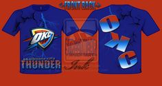 oklahoma city thunder t-shirt designed by swi by ~StreetWearinc on deviantART