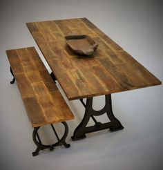 Rustic Design, Drafting Desk, Furniture Design, Dining Table, Vintage, Home Decor, Decoration Home, Room Decor, Dinner Table