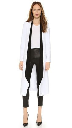 alice + olivia Длинное пальто Rosamund с драпированными лацканами