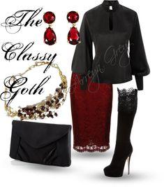 """""""Classy Goth"""" by arreyn-grey on Polyvore"""