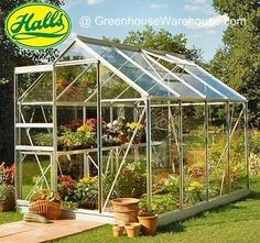 Halls Popular 86 8x6 Greenhouse with Toughened Glass   Greenhouse Warehouse