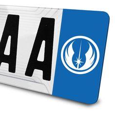 Sticker Logo Ordre Jedi Star Wars pour plaques d'immatriculation