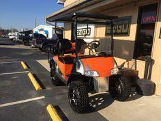 Custom painted Harley Davidson golf cart