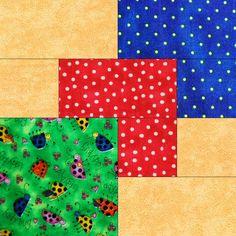 Ladybug Spots Pre-Cut Quilt Blocks Kit