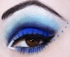 Electric blu makeup, a lightning on your eyes - makeup blu elettrico, un fulmine sui tuoi occhi