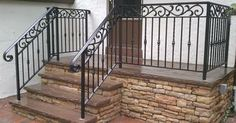 wrought iron porch railings - for the walkup basement stairs