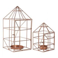 House Candle Holder Set in Copper | Available at www.LETLIV.co.nz