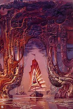 Bruce Pennington #art #SciFi