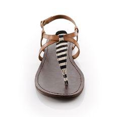 #Black & #White #Stripe #Sandals <3