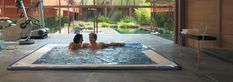 Hot Tub by Jacuzzi. Jacuzzi Hot Tub, Stomach Muscles, Underwater Lights, Home Spa, White Rooms, Glass Shower, Aromatherapy, Virginia, Spas
