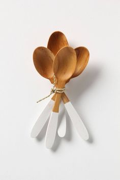 Two-Toned Wood Spoon Set - anthropologie.com