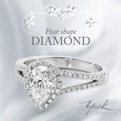 Stunning Per Shape Diamond Engagement Ring from York Jewellers.