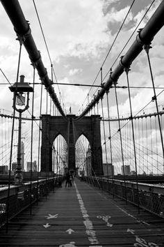 new york city ... crossing brooklyn bridge