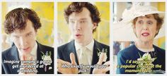 """If someone could just move Mrs. Hudson's glass out of reach, that would be lovely."""