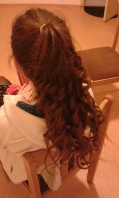 Hair style for dance party :)