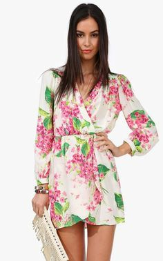 Orchid Wrap Dress #Spring #fashion