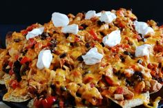 Chipotle Chile Chicken Nachos with Chipotle Sour Cream – a 15 Minute Meal