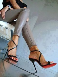 Christian Louboutin Gwynitta heels. these strappy heels make my feet look beautiful