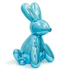 Made By Humans Balloon Bank Bunny, Cool and Unique Ceramic Piggy Bank with High-Gloss Finish - Blue Realistic Drawings, Colorful Drawings, Art Drawings Sketches, Cool Drawings, Ballon Animals, Balloon Illustration, Jeff Koons, Color Pencil Art, Kristina Webb