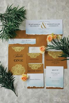 """A glam seaside soirée was the inspiration for this styled shoot. 