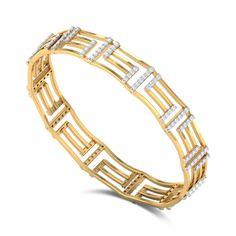 Geometric Linked Diamond Bangle DJBB5088