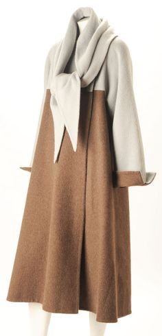 Pauline Trigere 1980s Coat with Matching Scarf - Gorgeous