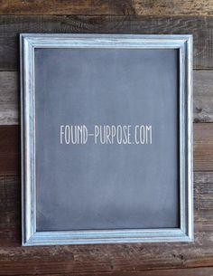 Vintage Style Chalkboard 16x20 by foundpurpose on Etsy, $25.00
