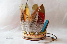 Feder Stirnband jungen Geburtstag Krone von BebeKoma auf Etsy