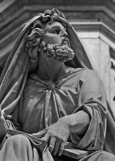 Details on the statue of prophet Isaiah at Colonna dell'Immacolata (The Immaculate Conception Column), Rome, Italy